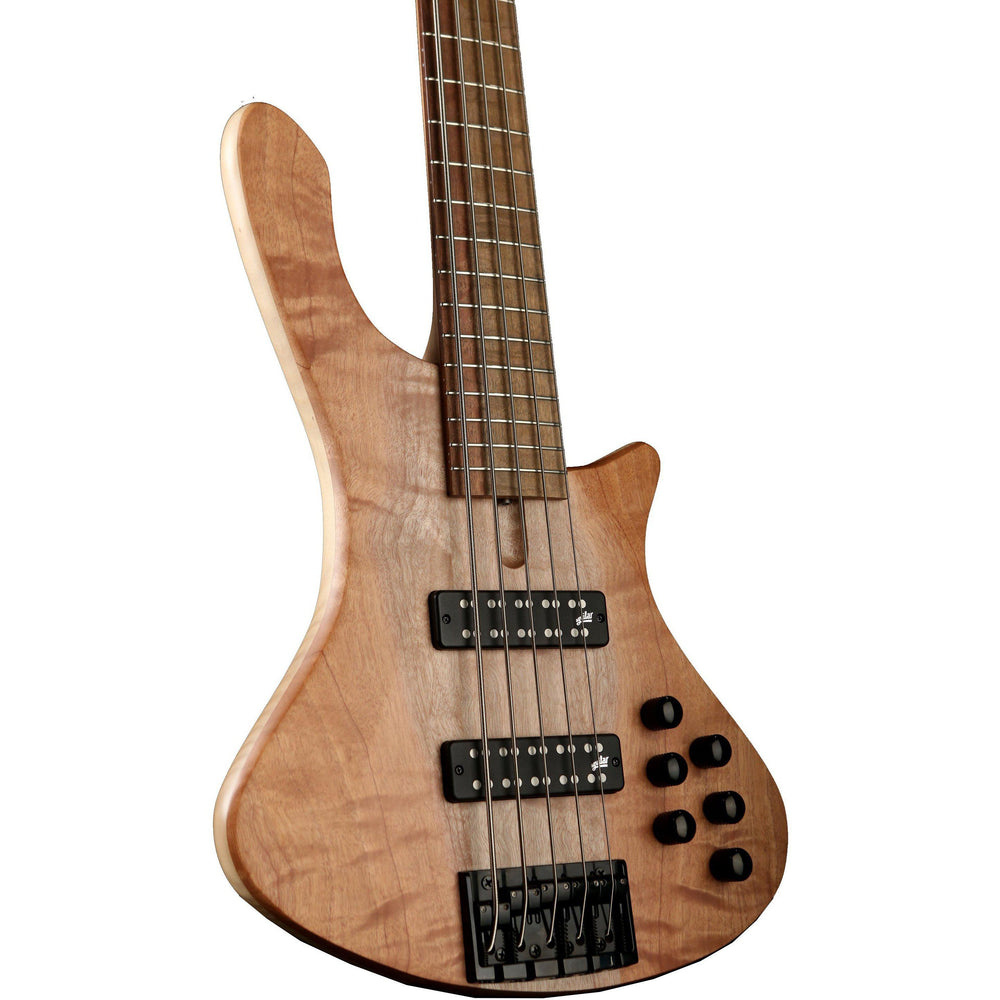 Cole Clark Long Lady 5 String Bass - Figured Maple Silkwood