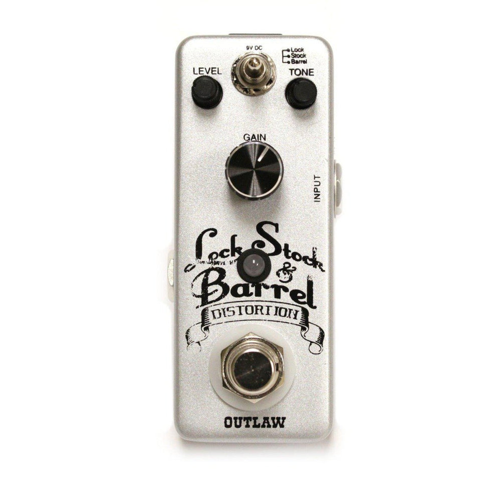 Outlaw Effects LOCK STOCK & BARREL 3-MODE DISTORTION, Outlaw Effects, Haworth Music
