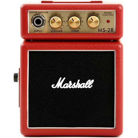Marshall MS-2R Micro Stack (Red), Marshall, Haworth Music