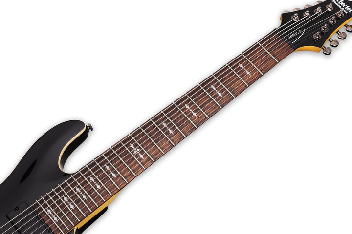 Schecter Omen-8 Left Hand 8-string Electric Guitar in Gloss Black, Schecter, Haworth Music