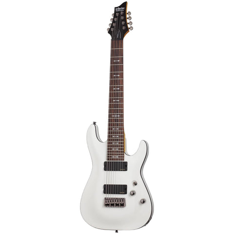 Schecter Omen-8 eight-string Electric Guitar in Vintage White, Schecter, Haworth Music