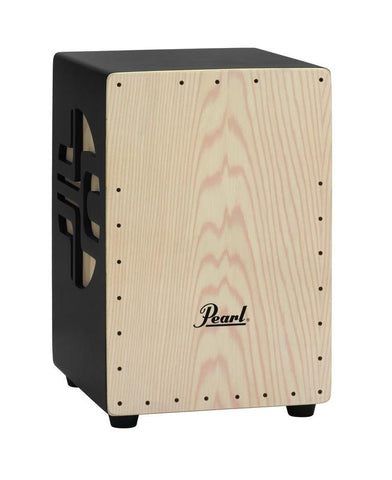 Pearl 3D Cajon - Black Natural Finish
