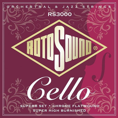 Rotosound RS3000 Cello Superb String Set, Rotosound, Haworth Music