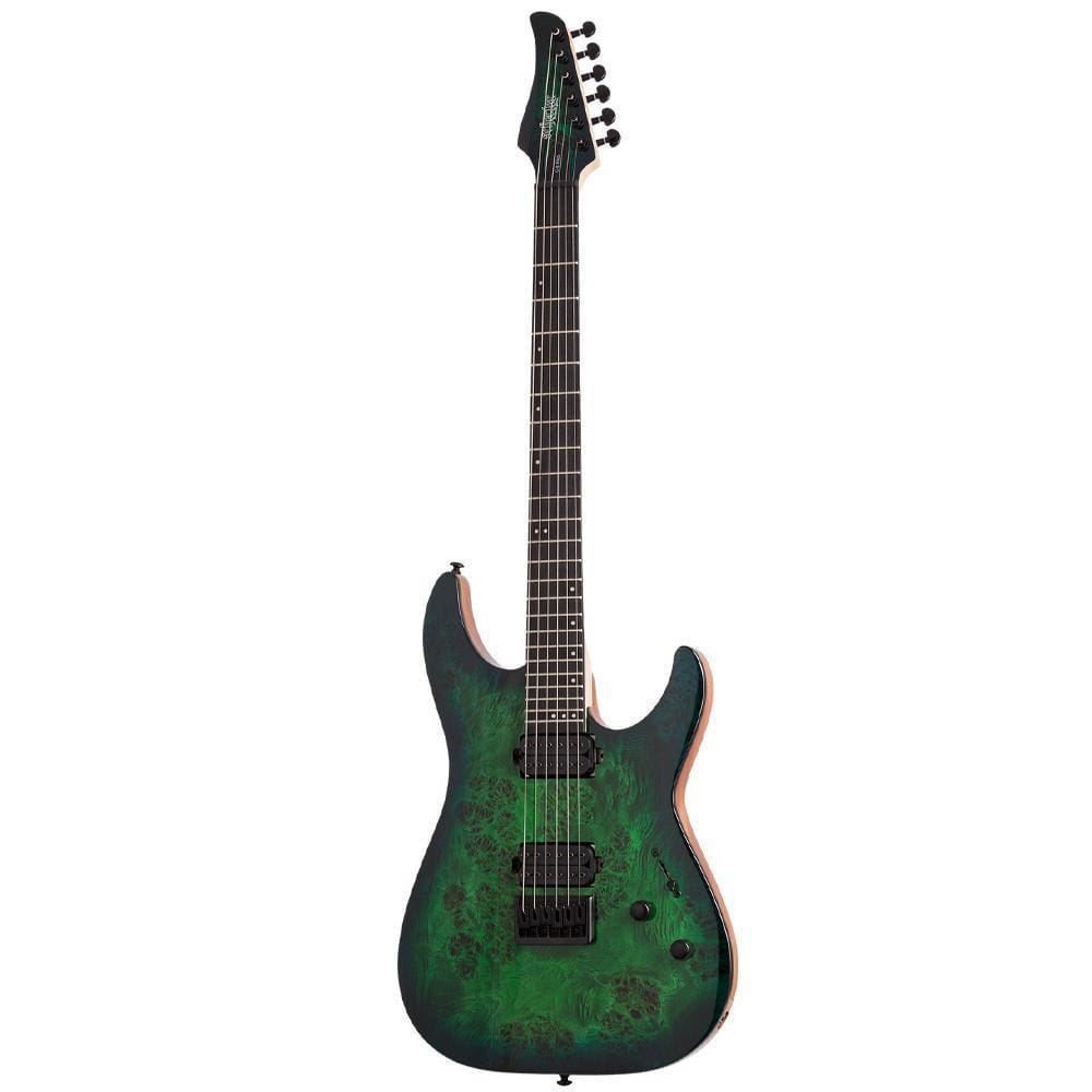 Schecter C-6 Pro Aqua Burst Electric Guitar, Schecter, Haworth Music