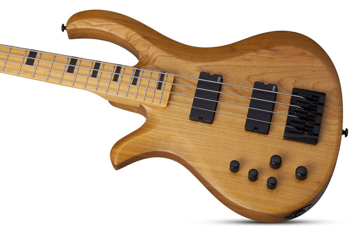 Schecter Riot-4 Session LH Left Hand Electric Bass Guitar in Aged Natural Satin, Schecter, Haworth Music