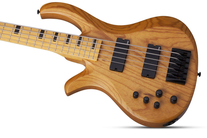 Schecter Riot-5 Session 5-string LH Left Hand Electric Bass Guitar in Aged Natural Satin, Schecter, Haworth Music