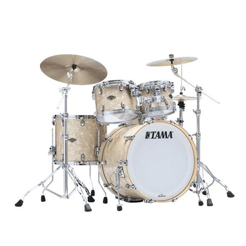 "The TAMA Starclassic Walnut/Birch 4-piece Shell Pack with 22"" Bass Drum in - Vintage Marine Pearl (VMP) - No Hardware Included, TAMA, Haworth Music"