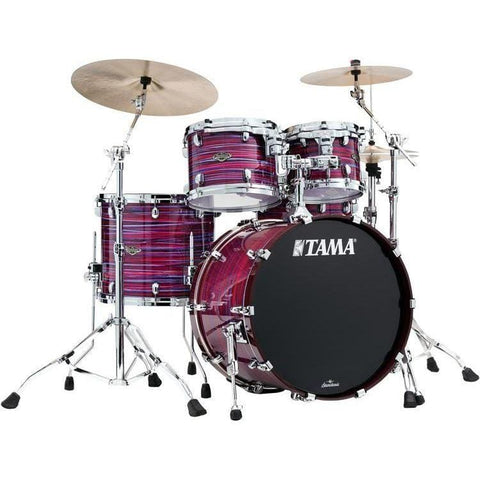 "The TAMA Starclassic Walnut/Birch 4-piece Shell Pack with 22"" Bass Drum in - Lacquer Phantasm Oyster (LPO) - No Hardware Included, TAMA, Haworth Music"