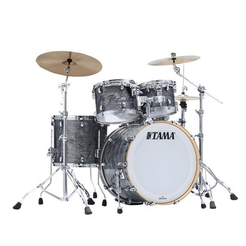 "The TAMA Starclassic Walnut/Birch 4-piece Shell Pack with 22"" Bass Drum in - Charcoal Onyx (CCO) - No Hardware Included, TAMA, Haworth Music"