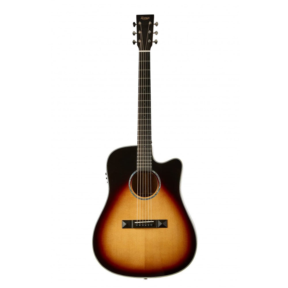 Tasman TA300-CE Dreadnought Cutaway Acoustic Electric with Premium Hard Case