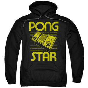 Atari - Star Adult Pull Over Hoodie - Adult Pull Over Hoodie Idiot Box Clothes
