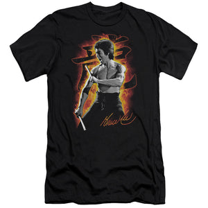 Bruce Lee - Dragon Fire Short Sleeve Adult 30/1 - Short Sleeve Adult 30/1 Idiot Box Clothes