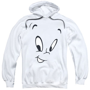 Casper - Face Adult Pull Over Hoodie - Adult Pull Over Hoodie Idiot Box Clothes