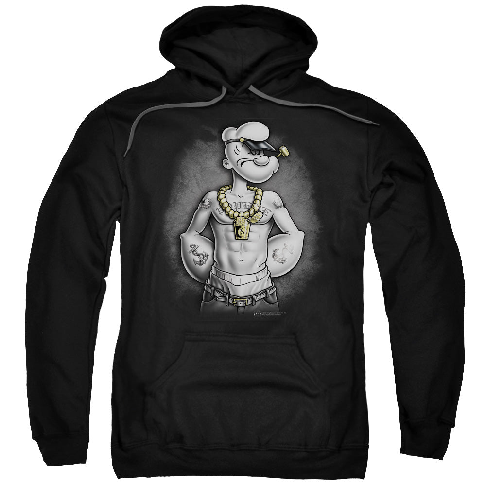 Popeye - Hardcore Adult Pull Over Hoodie - Idiot Box Clothes
