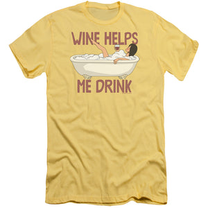Bobs Burgers - Wine Helps Short Sleeve Adult 30/1 - Short Sleeve Adult 30/1 Idiot Box Clothes