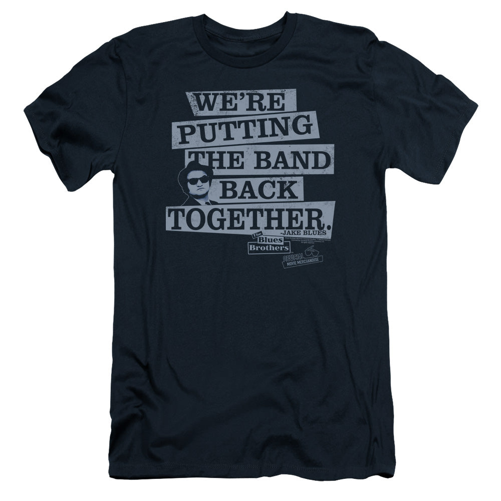 Blues Brothers - Band Back Short Sleeve Adult 30/1 - Short Sleeve Adult 30/1 Idiot Box Clothes