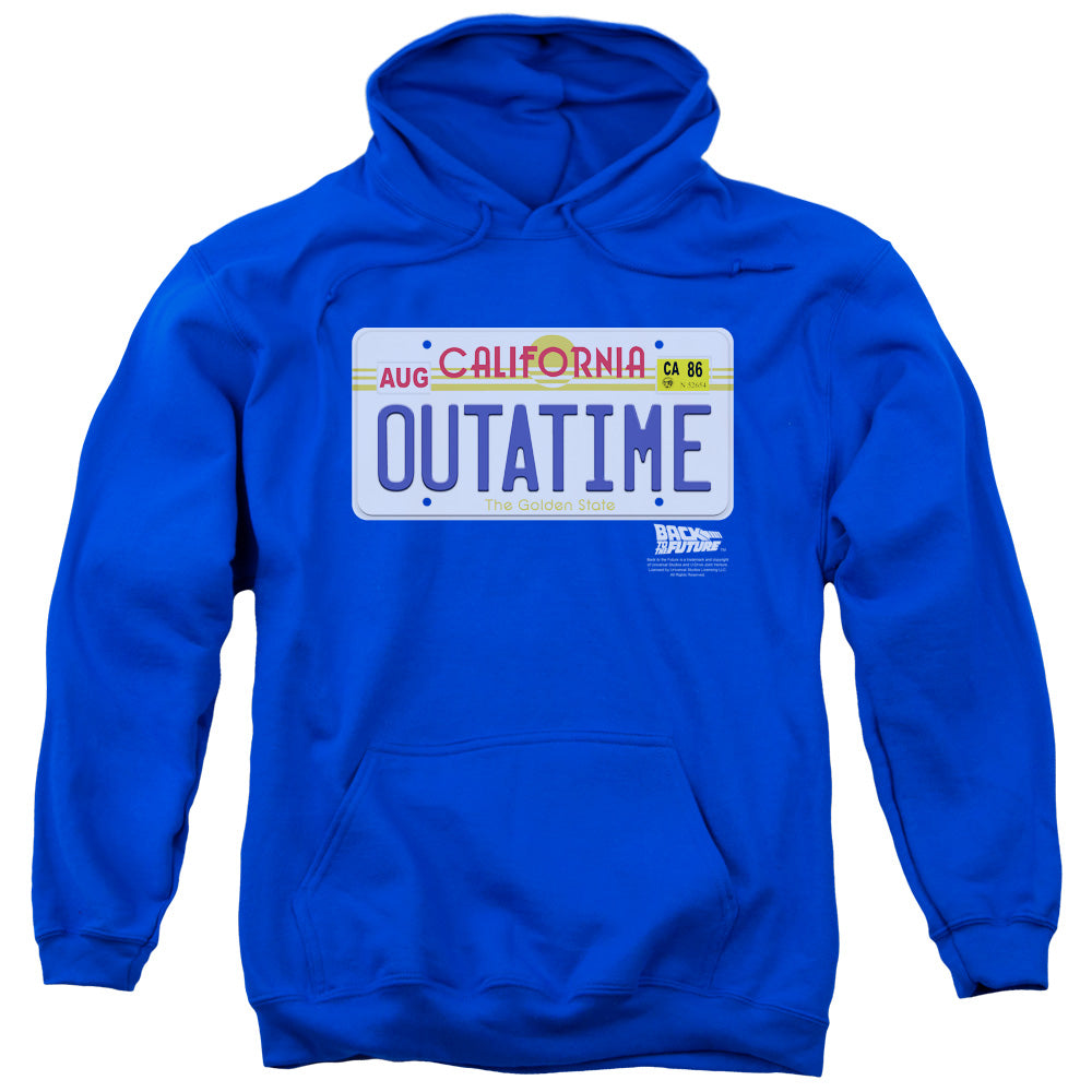 Back To The Future - Outatime Plate Adult Pull Over Hoodie - Adult Pull Over Hoodie Idiot Box Clothes