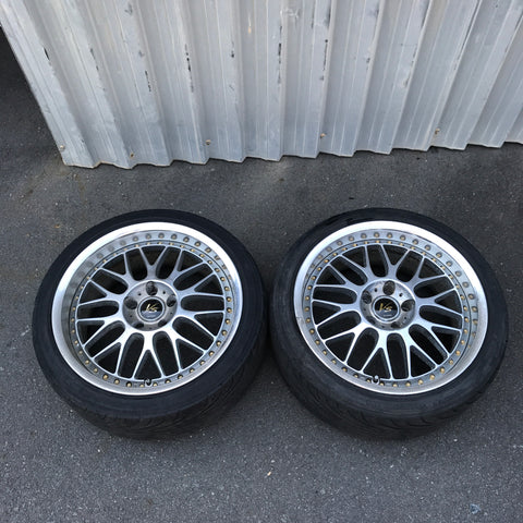 "Work VS-XX  18"" Pair 5x114.3 wheels"