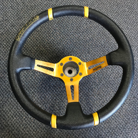 MOMO Drifting Orange 350mm Steering Wheel