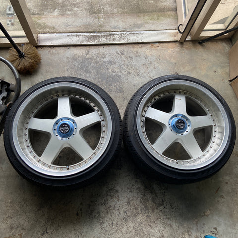 "Impul Hoshino RS 18"" Pair JDM 5x114.3 5x100 Wheels"