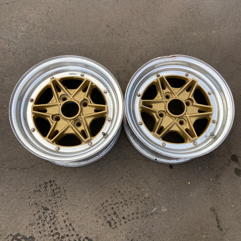 "Dunlop LeMans 14"" 4x114.3 Pair Wheels"
