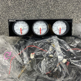 Defi din gauges white face set