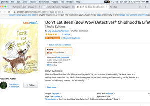 Don't Eat Bees! #1 New Release on Amazon