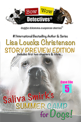Saliva Smirk's Summer Camp for Dogs! On Amazon for the weekend of 10/12/18 thru 10/14/18