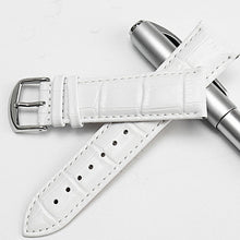 30 Meters Waterproof Quartz Fashion Watch With White Genuine Leather