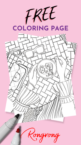 RONGRONG FREE COLORING PAGE