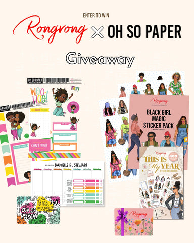 RONGRONG X OH SO PAPER GIVEAWAY