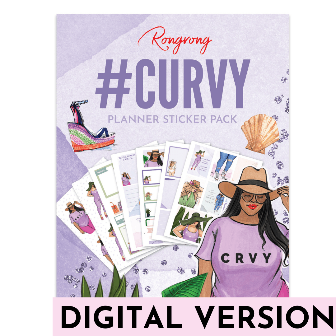 #Curvy Planner Stickers [DOWNLOAD] - Shop Rongrong
