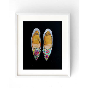High fashion shoe illustration by Rongrong DeVoe