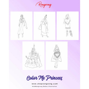 Princess Coloring Book -Download (Adult/Kids Coloring Book) - Shop Rongrong