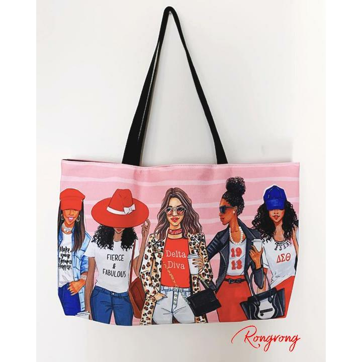 Red and white Weekend Tote - Shop Rongrong