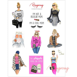 Mom Life Planner Sticker Sheet (Blonde) - Shop Rongrong