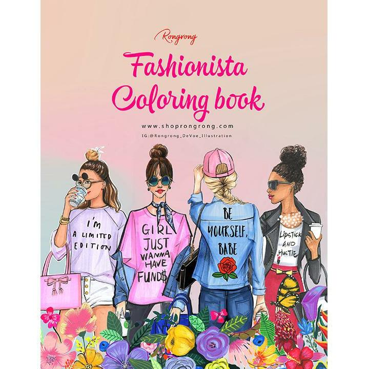 Fashionista Coloring Book-DIGITAL VERSION - Shop Rongrong