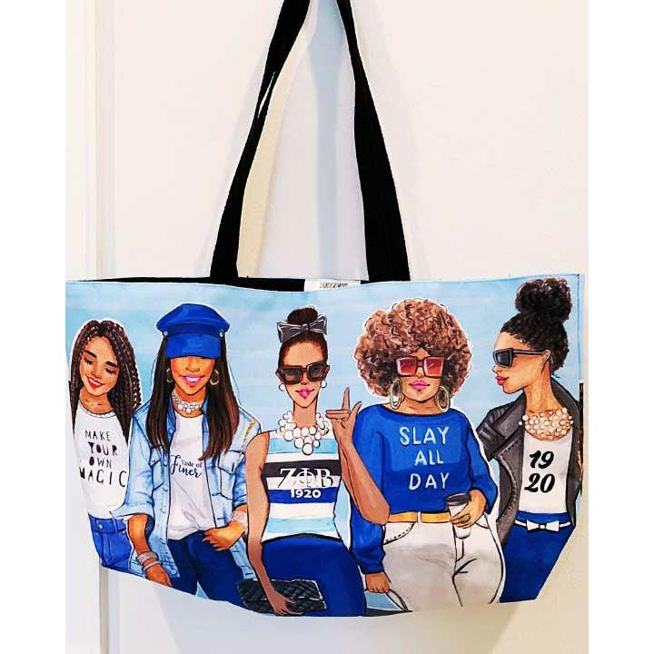 Zeta Phi Beta Sorority Weekend Tote