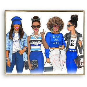 Zeta Phi Beta Illustration Print By Rongrong DeVoe