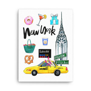 New York City On My Mind Art Print - Shop Rongrong