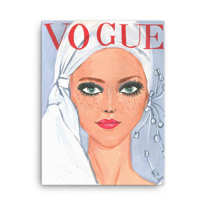 White Headwrap Vintage Vogue Cover - Shop Rongrong