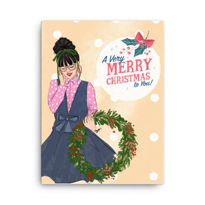 A Very Merry Christmas To You Art Print - Shop Rongrong