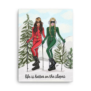 Life Is Better On The Slopes Art Print - Shop Rongrong