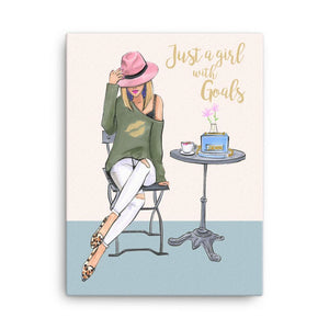 Just a Girl with Goals Art Print - Shop Rongrong
