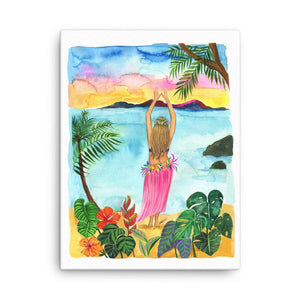 Hawaii, I'm Coming Art Print - Shop Rongrong