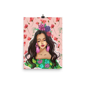 Karla. the flower child art print - Shop Rongrong