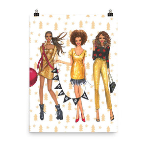 Holiday Glam Squad Art Print