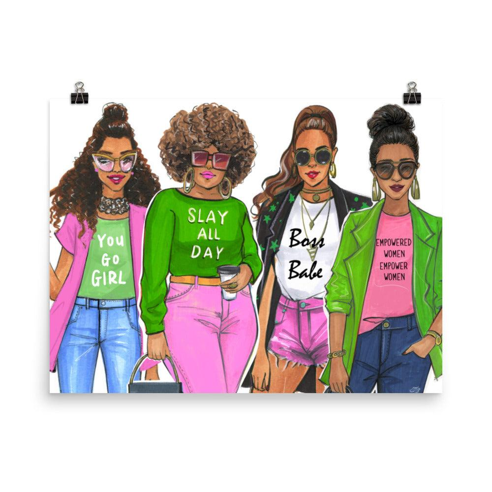 AKA Girl Squad Art Print - Shop Rongrong