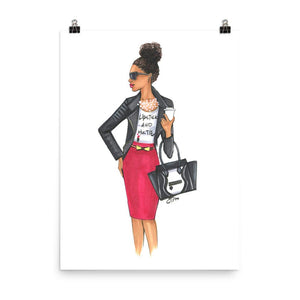 Girl Boss Art Print - Dark - Shop Rongrong