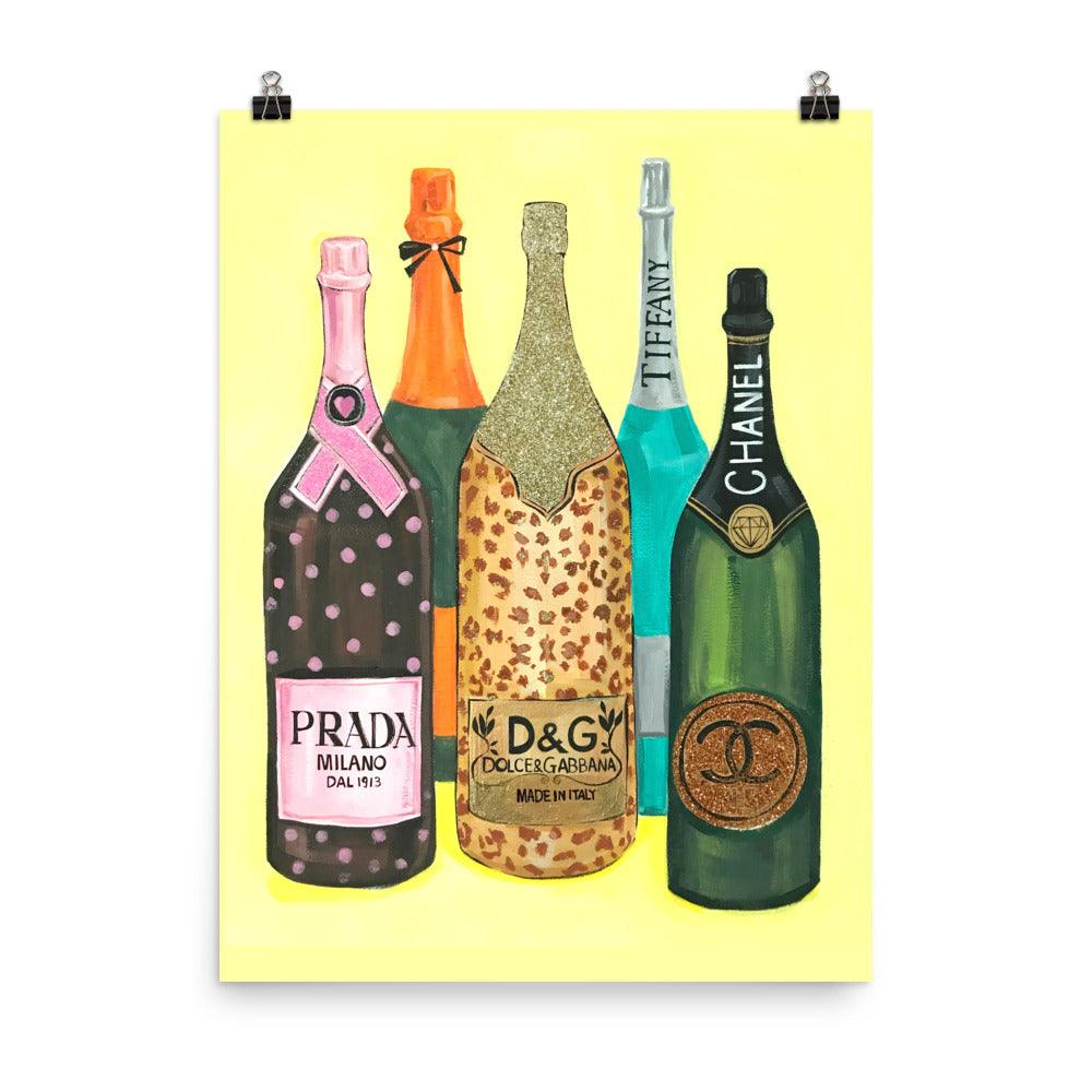 High Fashion Champagne Art Print - Shop Rongrong